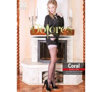 Чулки женские DOLORES Coral 20 autoreggente erotic line