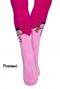 Махровые детские колготки KBS Арт.: 4-200002 / Снеговик /