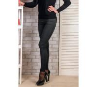 Джинсовые брюки баталы чёрные плотные с байкой Kenalin Арт.: 913-1