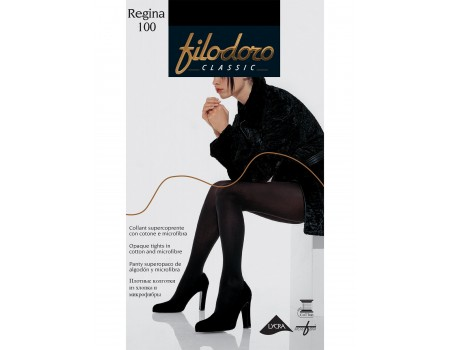 Тёплые колготки с хлопком FILODORO Regina 100