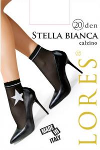 Носки женские с узором LORES Stella Bianca 20 den