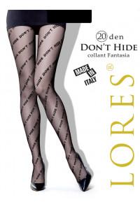 Колготки женские с принтом LORES Don't Hide 20