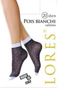 Носки женские с узором LORES Pois Bianchi 20 calzino