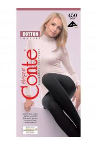 Теплые колготки из хлопка CONTE Cotton 450