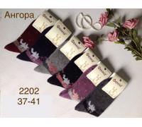 Шерстяные женские носки из ангоры ФЕННА высокие Арт.: 2202/ Верблюд /