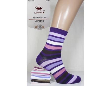 Стрейчевые женские носки КОРОНА средней высоты Арт.: B2327-1