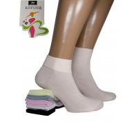 Хлопковые женские носки с подворотом КОРОНА средней высоты Арт.: 8002