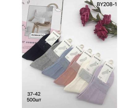 Стрейчевые женские носки КОРОНА средней высоты Арт.: BY208-1
