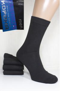 Стрейчевые мужские носки КОРОНА высокие Арт.: A1380 / Черный /