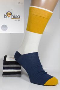 Стрейчевые мужские носки BENISA высокие Арт.: 1075-1 / Комбинированные /