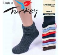 Шерстяные женские носки с отворотом KARDESLER Арт.: 8011 / 0255 / Упаковка 12 пар /