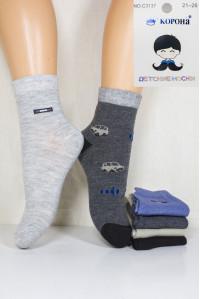 Стрейчевые детские носки КОРОНА средней высоты Арт.: C3137 / Упаковка 12 пар /