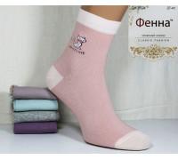 Стрейчевые женские носки ФЕННА средней высоты Арт.: GH-B524 / Упаковка 12 пар /