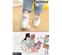 Стрейчевые детские носки 3D КОРОНА средней высоты Арт.: BY301-2