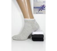 Стрейчевые мужские носки в сеточку KARDESLER короткие Арт.: 1750-1 / Однотонные /