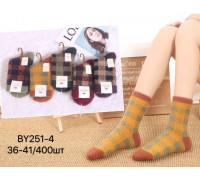 Женские носки из норкового меха КОРОНА высокие Арт.: BY251-4
