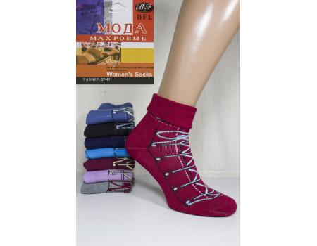 Женские махровые носки с отворотом BFL МОДА средней длины Арт: B71-11 / 20027 / Упаковка 12 пар /