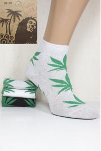 Стрейчевые женские носки Be HAPPY and SMILE средней высоты Арт.: 44230-37-1 / Конопля /