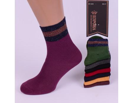 Стрейчевые женские носки на компрессионной резинке КОРОНА высокие Арт.: BY203-5