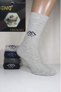 Шерстяные мужские носки GNG Wool Thermo высокие Арт.: 2817 / Упаковка 12 пар /