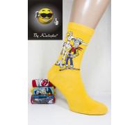 Стрейчевые компьютерные мужские носки KARDESLER высокие Арт.: 1307-9 / Ковбой / Упаковка 12 пар /