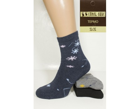 Махровые женские носки термо СТИЛЬ ЛЮКС высокие Арт.: 0806 / Упаковка 12 пар /