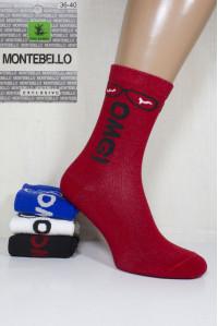 Стрейчевые женские носки MONTEBELLO Ф3 высокие Арт: 7422VD-5 / 0-0 OMG /