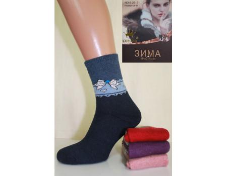 Женские махровые носки из ангоры КОРОНА Арт.: B2513-1
