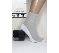 Стрейчевые спортивные мужские носки KARDESLER средней длины Арт.: 1303-5 / Резинка рубчик / Упаковка 12 пар /