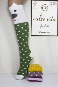 Стрейчевые детские гольфы 3D ушки Calze Vita Арт: BC1060 / 11784 / Упаковка 12 пар /
