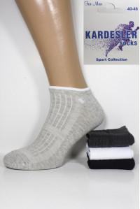 Стрейчевые мужские носки в сеточку KARDESLER короткие Арт.: 1750-2 / Пламя /