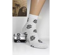 Стрейчевые мужские носки Be HAPPY and SMILE средней высоты Арт.: 33230-37-5 / Доллар /