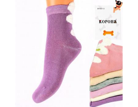Стрейчевые детские носки 3D КОРОНА средней высоты Арт.: BY301-3