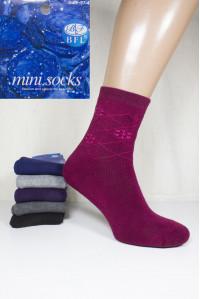 Женские махровые носки BFL Mini Socks высокие Арт: B71-10 / Упаковка 12 пар /