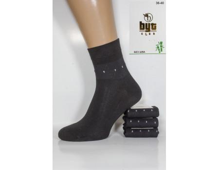Бамбуковые женские носки Byt Club высокие с трафаретом Арт.: 8585-1 / Ромб + точка /