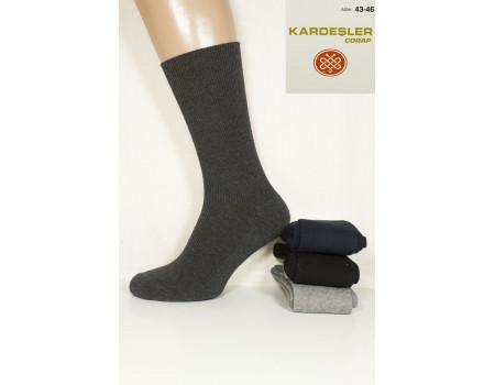 Стрейчевые мужские компрессионные носки на махровой подошве KARDESLER высокие Арт.: 0696 / Упаковка 12 пар /