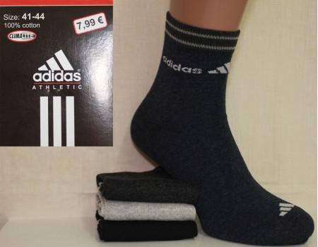 Стрейчевые мужские носки Adidas / 1047 / средней высоты Арт.: 323699-35 / Упаковка 12 пар /
