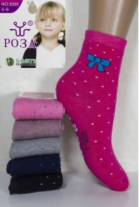 Махровые детские носки РОЗА высокие Арт.: 3325 / Упаковка 12 пар /