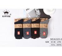 Мужские медицинские носки из верблюжьей шерсти КОРОНА высокие Арт.: A1523-4 / Упаковка 12 пар /