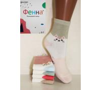 Стрейчевые детские носки ФЕННА средней высоты Арт.: GH-C021 / Упаковка 10 пар /