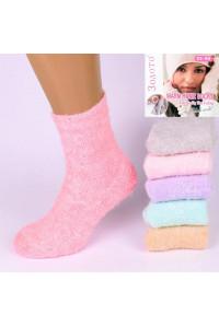 Шерстяные женские носки травка ЗОЛОТО высокие АРТ.: C504 / Упаковка 12 пар /