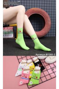 Стрейчевые женские носки КОРОНА средней высоты Арт.: BY260-2 / Sweet things /