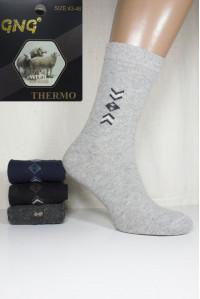 Шерстяные мужские носки GNG Wool Thermo высокие Арт.: 2822 / Упаковка 12 пар /