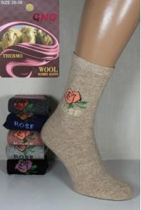 Шерстяные женские носки с ангорой GNG высокие Арт.: 3010