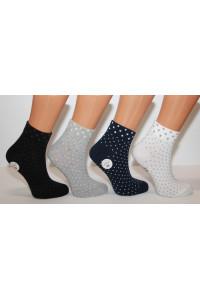 Стрейчевые женские носки ZENGIN средней высоты Арт.: 2282-3 / Горошек / Упаковка 12 пар /