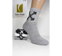 Стрейчевые мужские носки для тенниса CALZE MODA высокие Арт.: 9153-1 / OFF-White /