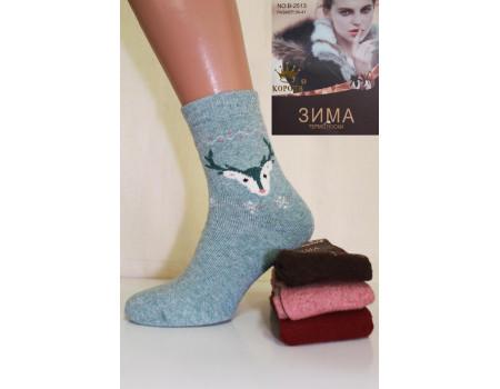 Женские махровые носки из ангоры КОРОНА Арт.: B2513-3