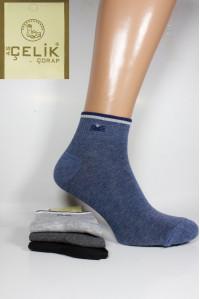 Стрейчевые спортивные мужские носки ASCELIK Corap средней длины Арт.: 2280 / Упаковка 12 пар /