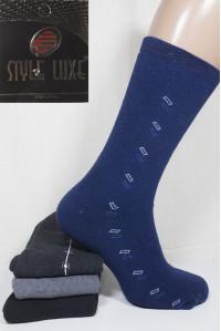 Махровые мужские носки полушерстяные Ф8 STYLE LUXE высокие Арт.: 0443 / 0321 / Упаковка 12 пар /