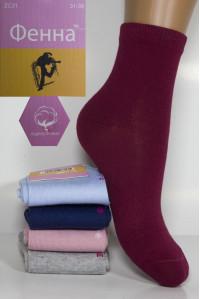 Стрейчевые подростковые носки Фенна средней высоты Арт.: ZC 31 / Упаковка 10 пар /